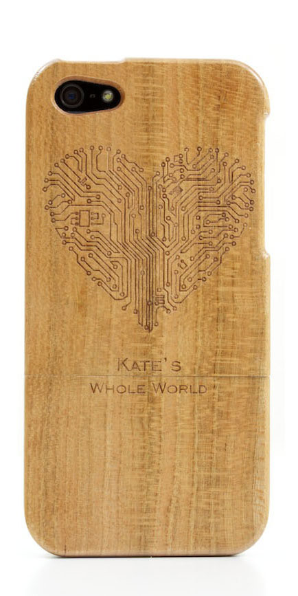 Gifts for Her. Personalised wooden iPhone case