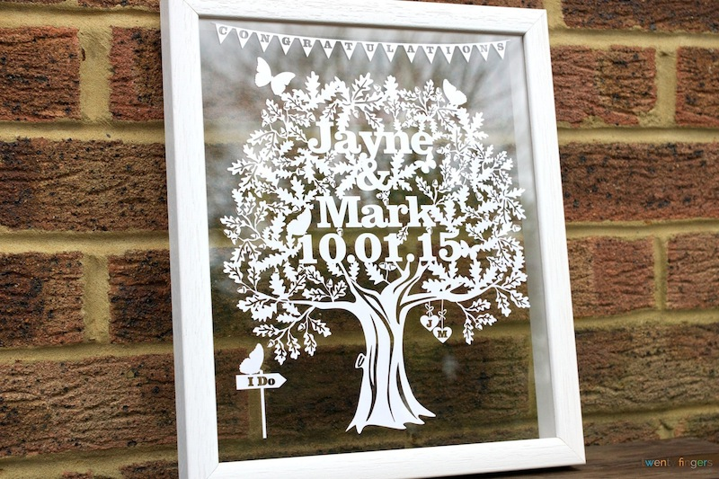 Suggestions For Wedding Gifts: Unique Wedding Gifts Ideas. Personalised Papercuts