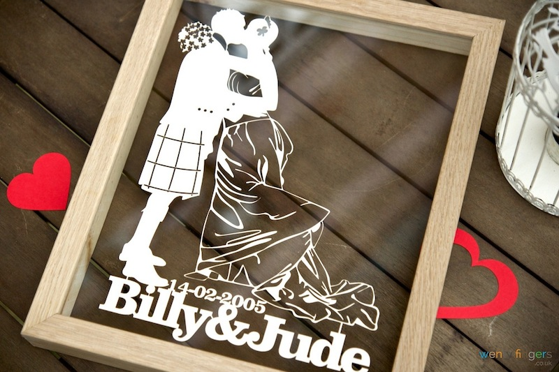 Cool Wedding Gift Ideas Uk : Unique Wedding Gifts Ideas. Personalised papercuts