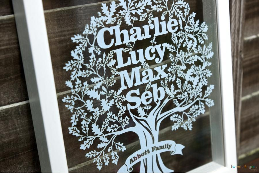 Family Tree Papercut Personalised Gift No One Else Has