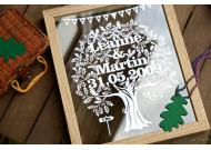 Love Tree Papercut