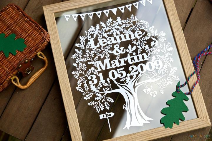 Love Tree Papercut - Personalised Wedding Gift