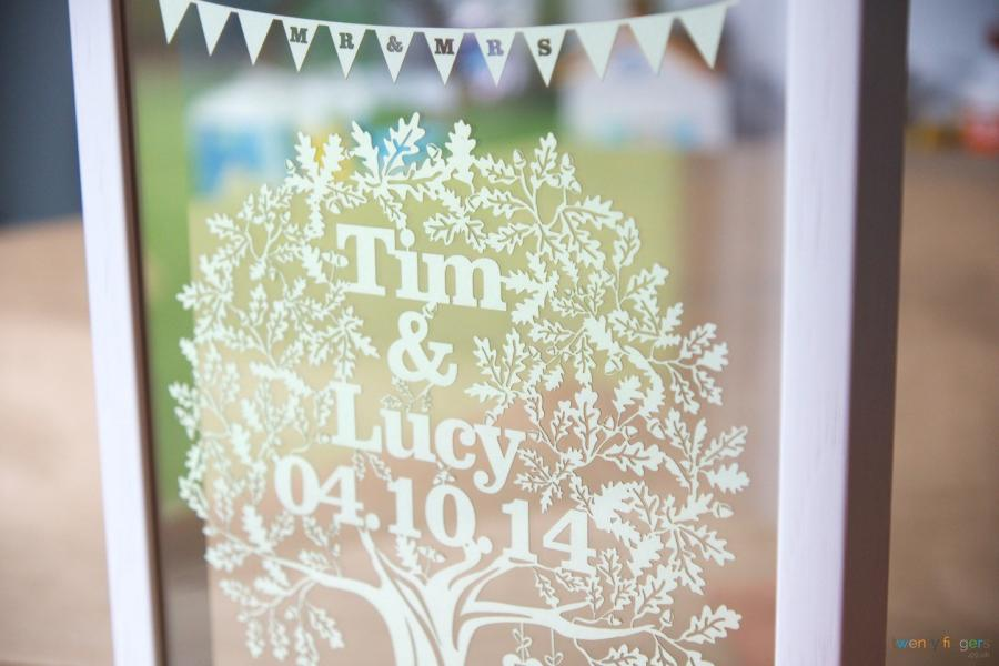 Personalised Wedding Gift Ideas Uk : Personalised Wedding GiftLove Tree Papercut in a Floating Frame ...