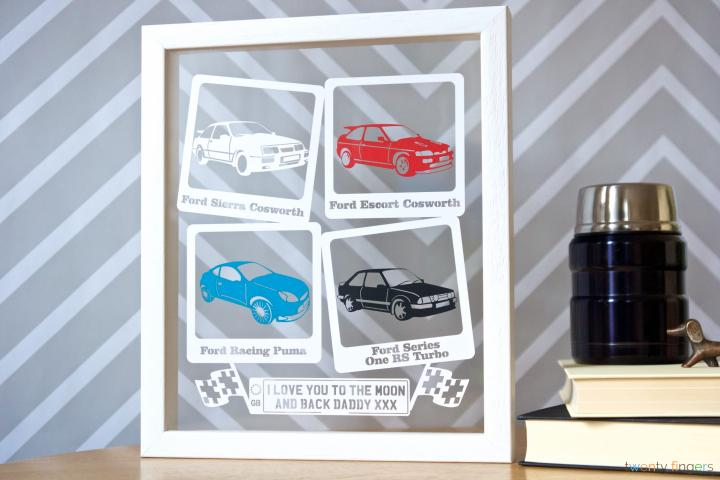 Personalised 'The Cars' Papercut