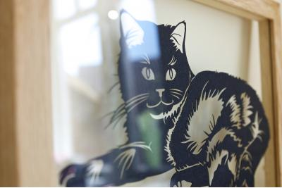 Cat Portrait Papercut