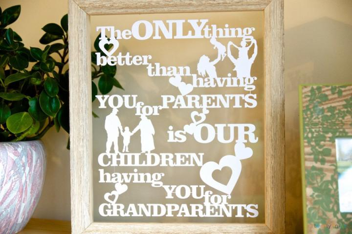 The only thing better than having you parents is our children having you for grandparents