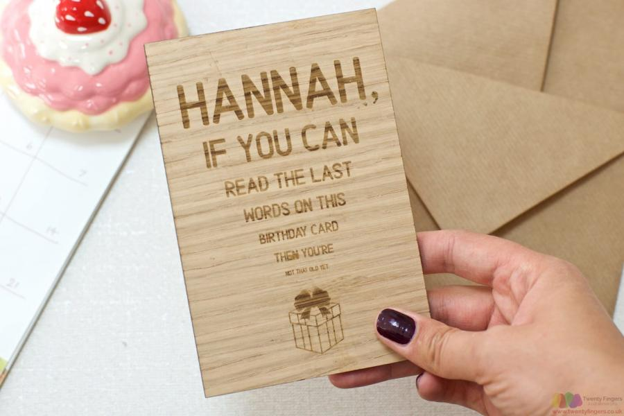 If You Can Read This Personalised Wooden Birthday Card