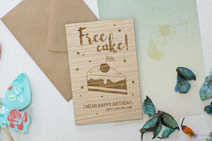 Free cake | Personalised birthday card