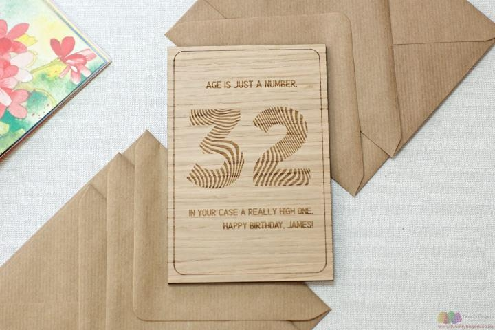 Age is just a number. Personalised birthday card