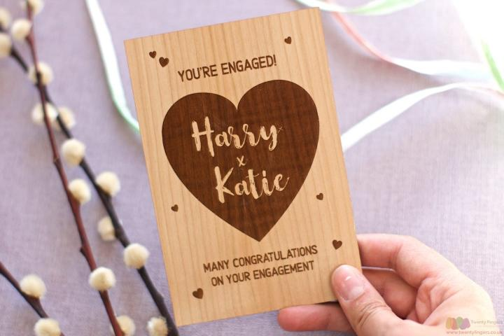 You're engaged. Personalised engagement card