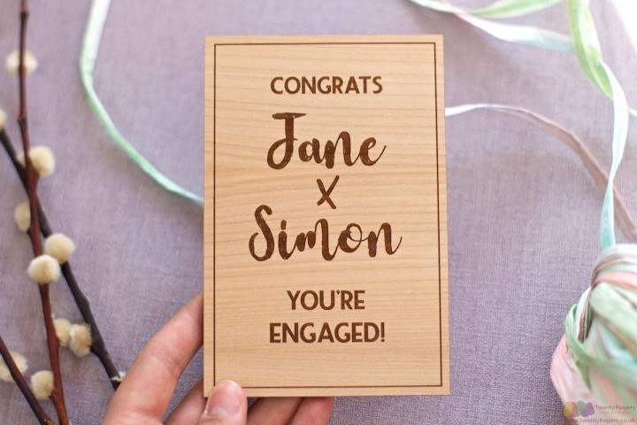 Congrats... Personalised engagement card