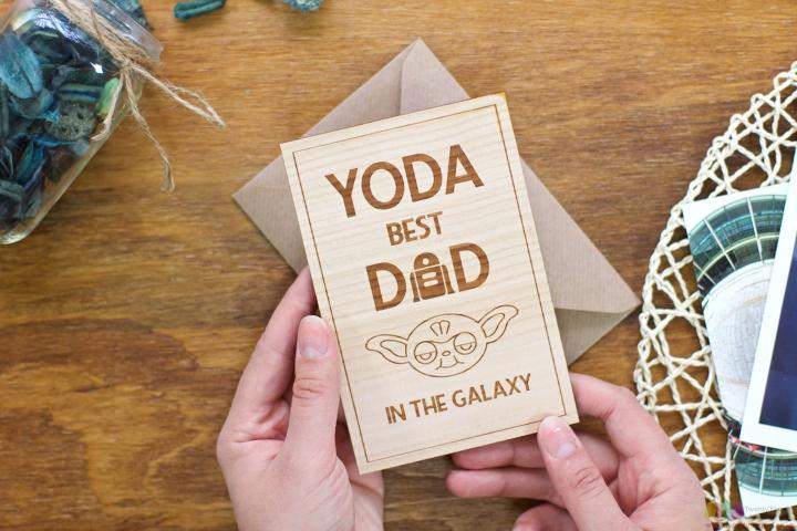 YODA best DAD. Personalised Fathers Day Card