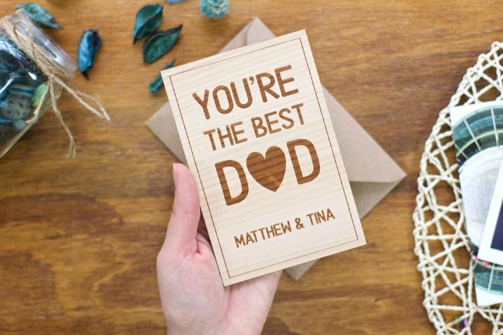 You're the best dad. Personalised Fathers Day Card