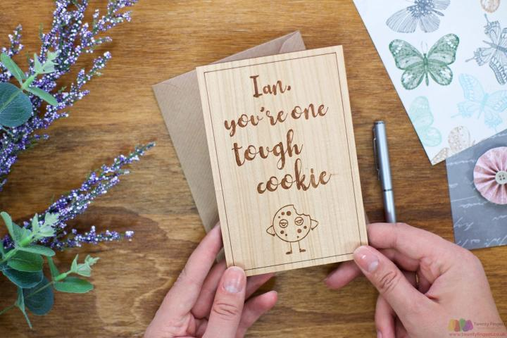 You're tough. Personalised Get Well Card