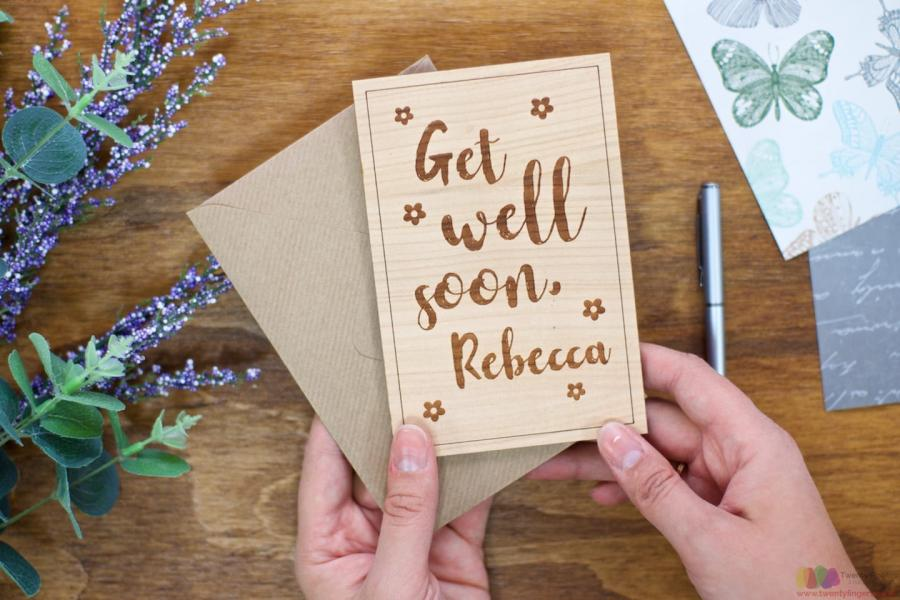 Get Well Soon Personalised Get Well Card