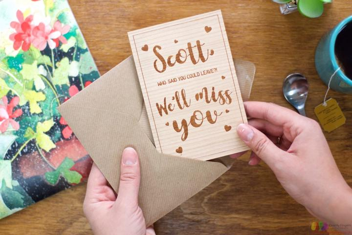 Who said you could leave? Personalised Leaving Card
