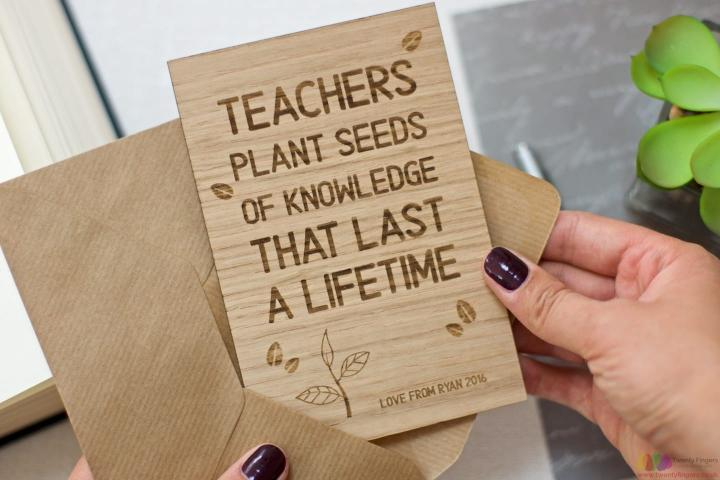 Teachers plant seeds of knowledge that last a lifetime | Personalised card