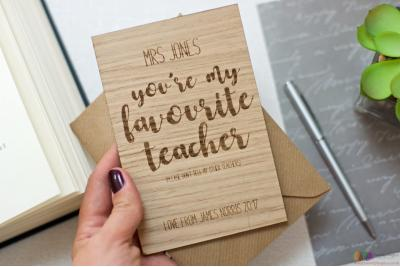 You're my favourite teacher