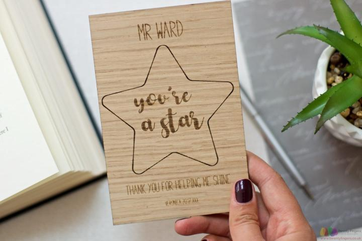 Thank you for helping me shine. Personalised teacher card