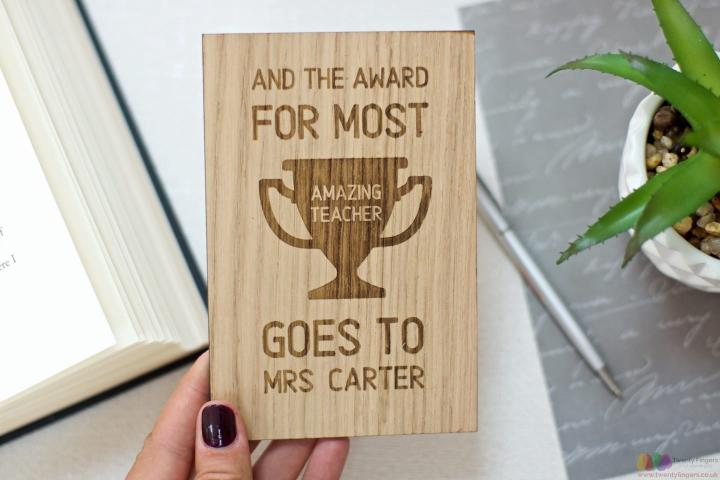 Award for most AMAZING teacher... personalised teacher card