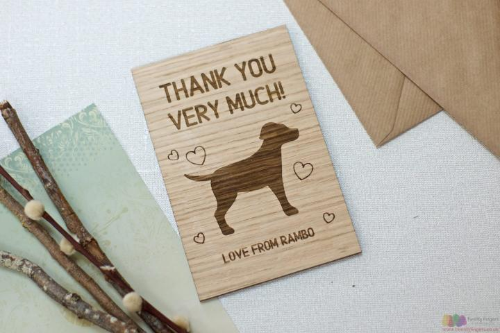 Personalised Pet Sitter Thank You Card
