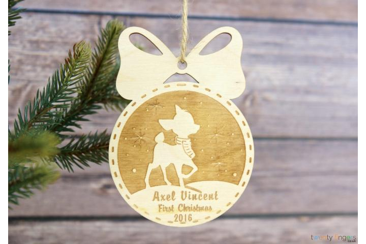 First Christmas Personalised Christmas Tree Decoration