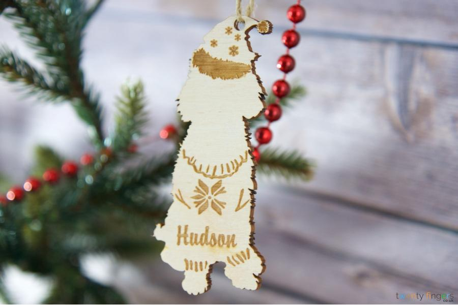 Dog Personalised Christmas Tree Decoration (any Breed
