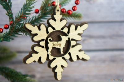 Dog Snowflake decoration