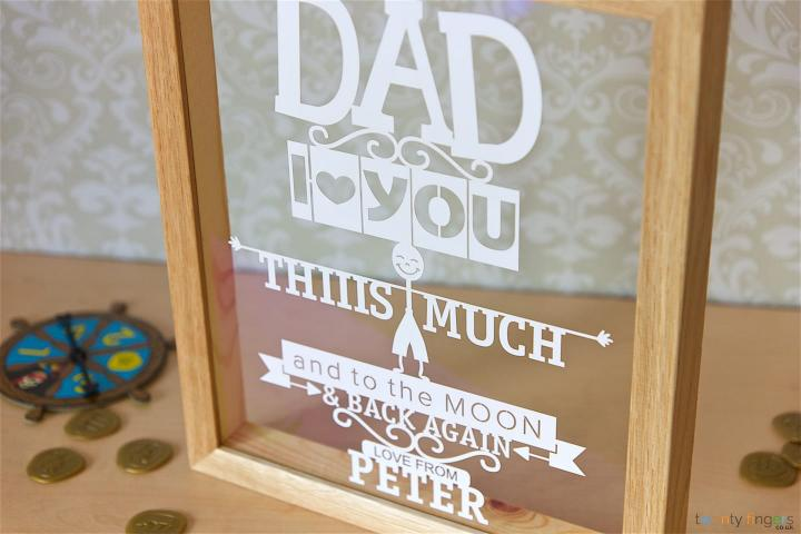 Dad I Love You This Much Personalised Papercut