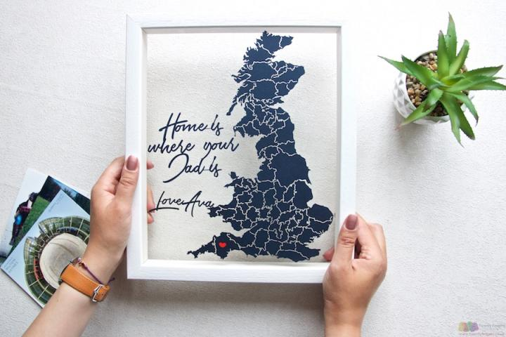 Home is where your dad is... Personalised Papercut