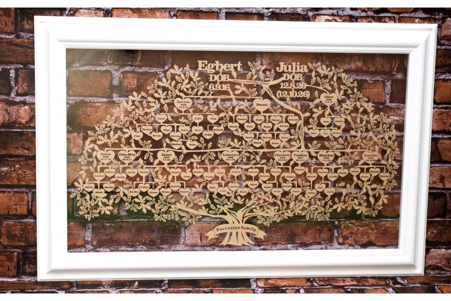 Large Family Genealogy Tree papercut | Your family history papercut