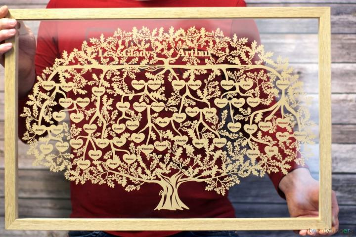 Family Genealogy Tree Papercut