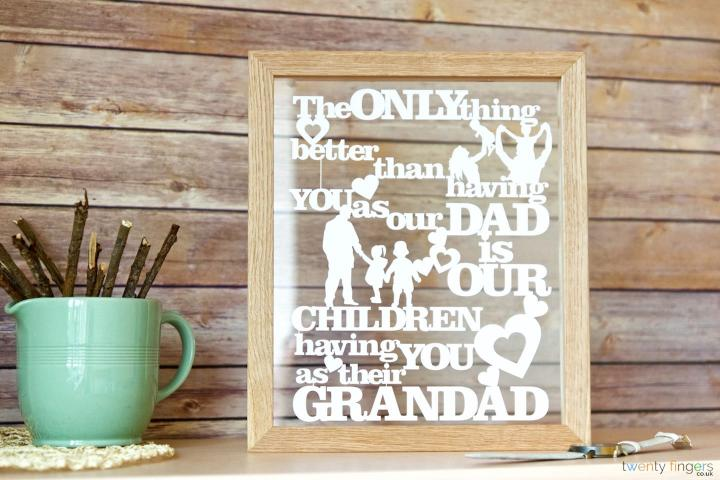 The only thing better than having you as our Dad is our children having you as their Grandad