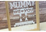 Mummy I Love You This Much Personalised Papercut