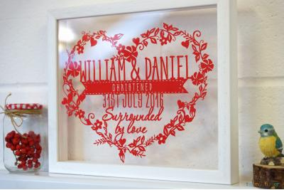 Christening Heart Papercut