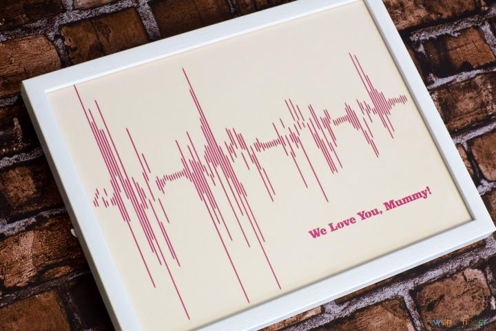 Personalised Sound Wave Papercut