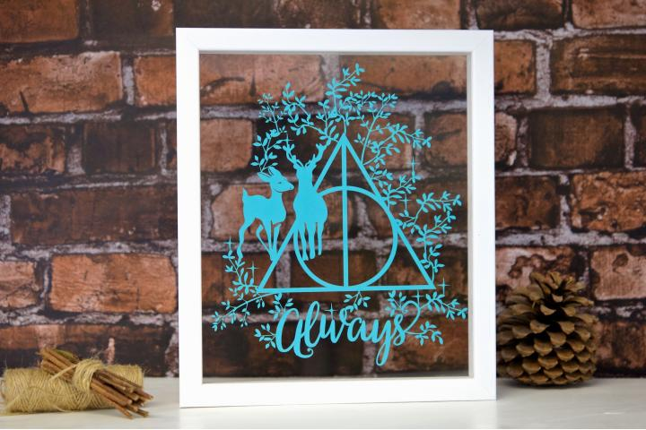 Sign of the Deathly Hallows Papercut