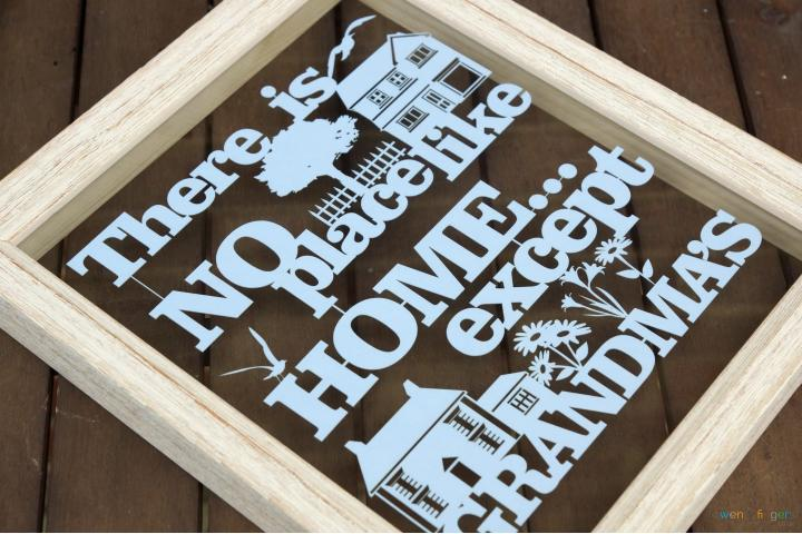 There is no place like home except grandma's papercut