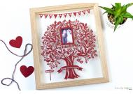 Love Tree Picture Papercut