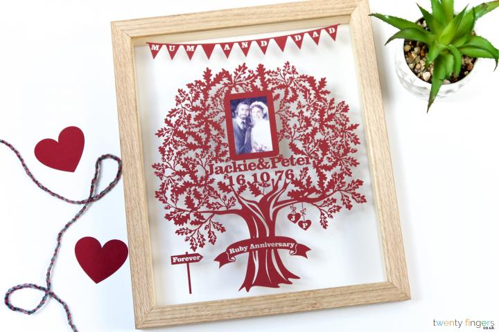 Love Tree Picture Papercut (Home Decor)