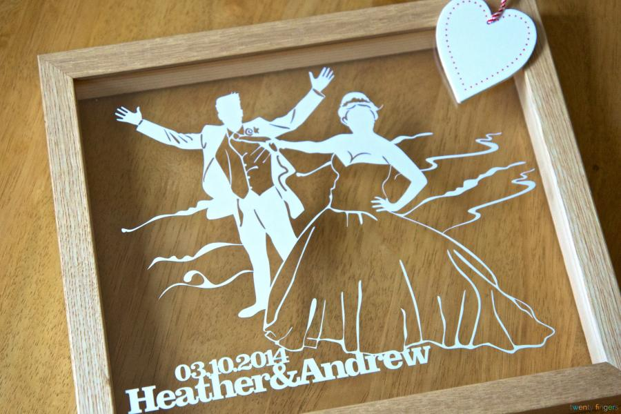 Personlaised Silhouette Papercut Simply Send Us Your Photo