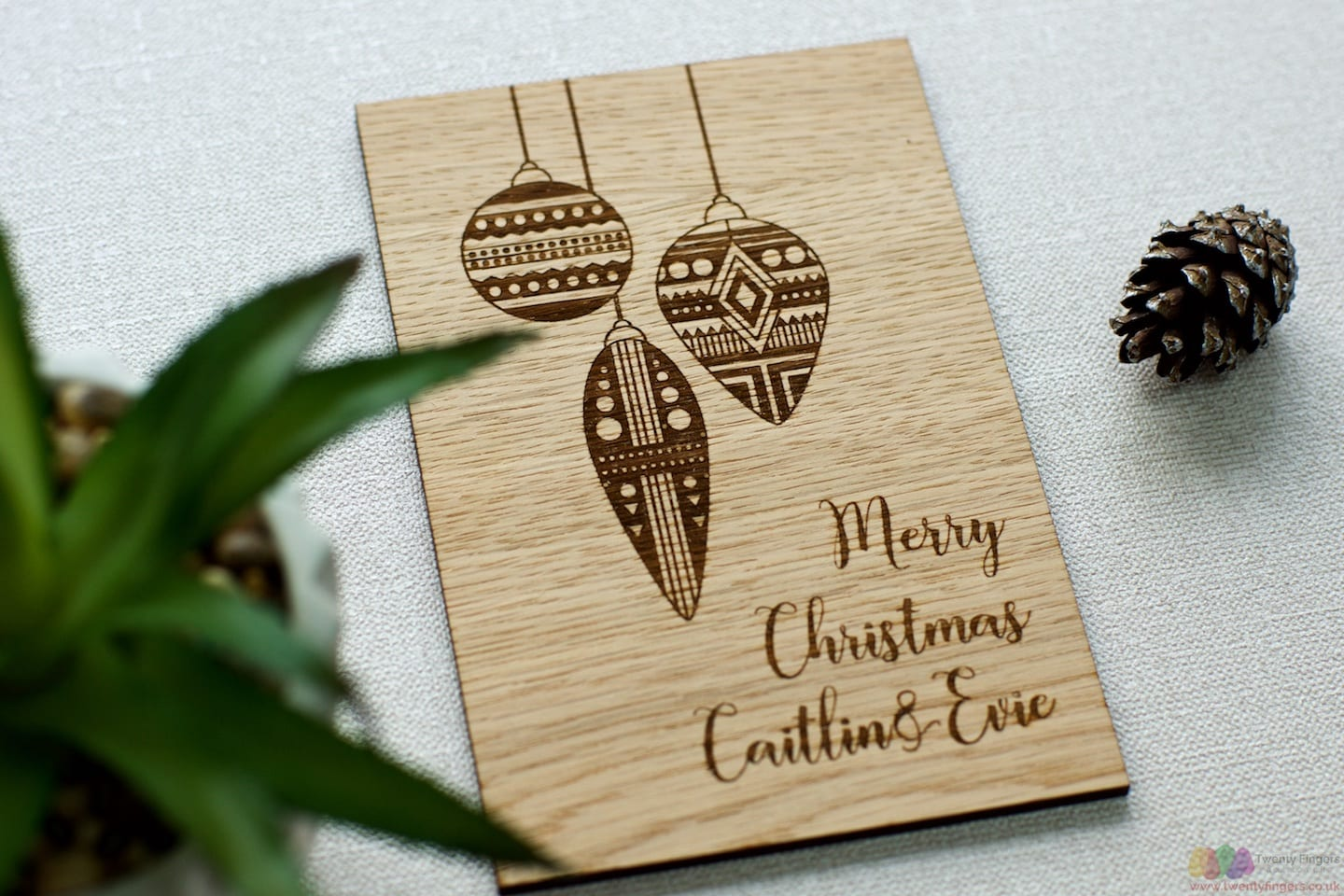 Personalised Christmas Wooden card
